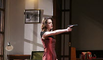 HEATHER GARDNER   by Robin French   after Ibsen's 'Hedda Gabler'   design: Jamie Vartan   lighting: Rick Fisher   director: Mike Bradwell ~Elisabeth Hopper (Heather Desmond) ~Birmingham Repertory Thea...