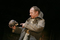 HAMLET   by Shakespeare   design: Jon Bausor   lighting: Jon Clark   director: David Farr   Jonathan Slinger (Hamlet) with Yorick Royal Shakespeare Company (RSC) / Royal Shakespeare Theatre (RST), S...