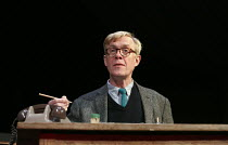 UNTOLD STORIES - COCKTAIL STICKS   by Alan Bennett   design: Bob Crowley   lighting: Tom Snell   director: Nichols Hytner   Alex Jennings (Alan Bennett)  a National Theatre production / Duchess The...