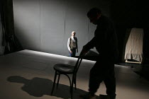 MY PERFECT MIND   written & directed by Kathyn Hunter   created by Told by an Idiot   design: Michael Vale   lighting: Alex Wardle   l-r: Edward Petherbridge, Paul Hunter The Young Vic (YV), London...