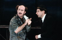 THE WINTER'S TALE   by Shakespeare   design: Ariane Gastambide   lighting: Ben Ormerod   director: Annabel Arden ~l-r: Marcello Magni (Autolycus), Simon McBurney (Clown)~Theatre de Complicite / Lyric...