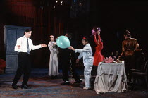 THE WINTER'S TALE   by Shakespeare   design: Ariane Gastambide   lighting: Ben Ormerod   director: Annabel Arden ~left: Simon McBurney (Leontes)   centre: Kathryn Hunter (Maximillius)~Theatre de Compl...