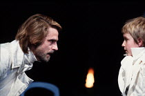 THE WINTER'S TALE   by Shakespeare   design: Gerard Howland   lighting: Terry Hands & Clive Morris   director: Terry Hands ~l-r: Jeremy Irons (Leontes), Martin Hicks (Mamillius)~Royal Shakespeare Comp...