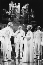 THE WINTER'S TALE   by Shakespeare   design: Gerard Howland   lighting: Terry Hands & Clive Morris   director: Terry Hands ~Jeremy Irons (Leontes), Penny Downie (Hermione)~Royal Shakespeare Company (R...