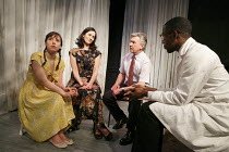 THE HOSPITAL AT THE TIME OF THE REVOLUTION   by Caryl Churchill   design: Rachel Stone   lighting: Derek Anderson   director: Jim Russell ~l-r: Ruth Pickett (Francoise), Ruth Lass (Madam), Kenneth Pri...