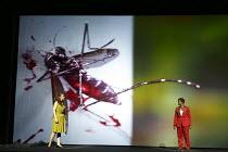 SUNKEN GARDEN   music: Michel van der Aa   libretto: David Mitchell   conductor: Andre de Ridder   set & lighting design: Theun Mosk   director: Michel van der Aa   l-r: Katherine Manley (Zenna Brigg...