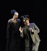 DIE ZAUBERFLOTE (The Magic Flute)   by Mozart   conductor: Julia Jones   design: John Macfarlane   lighting: Paule Constable   director: David McVicar   Hanna Hipp (Second Lady), Christopher Maltman...