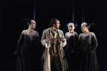 DIE ZAUBERFLOTE (The Magic Flute)   by Mozart   conductor: Julia Jones   design: John Macfarlane   lighting: Paule Constable   director: David McVicar   l-r: Gaynor Keeble (Third Lady), Charles Castr...