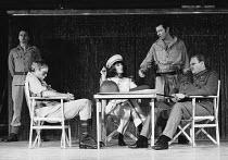 ANTONY AND CLEOPATRA   by Shakespeare   set design: Brian Thompson   costumes: Maria Bjornson   lighting: Claude Manley   director: Tony Richardson ~front l-r: Julian Glover (Antony), Vanessa Redgrave...