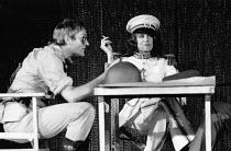 ANTONY AND CLEOPATRA   by Shakespeare   set design: Brian Thompson   costumes: Maria Bjornson   lighting: Claude Manley   director: Tony Richardson ~Julian Glover (Antony), Vanessa Redgrave (Cleopatra...