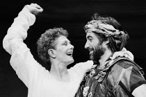 ANTONY AND CLEOPATRA   by Shakespeare   design: Simon Higlett   lighting: Pat Neider   directors: Toby Roberston & Christopher Selbie ~Vanessa Redgrave (Cleopatra), Timothy Dalton (Antony) ~Theatre Cl...