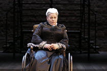 THE EMPRESS   by Tanika Gupta   design: Lez Brotherston   lighting: Malcolm Rippeth   director: Emma Rice   Beatie Edney (Queen Victoria) Royal Shakespeare Company (RSC) / Swan Theatre, Stratford-up...