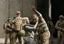 OTHELLO   by Shakespeare   design: Vicki Mortimer   lighting: Jon Clark   director: Nicholas Hytner ~Olivia Vinall (Desdemona), Adrian Lester (Othello) ~Olivier Theatre / National Theatre (NT), London...