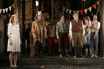 AS YOU LIKE IT   by Shakespeare   design: Naomi Dawson   lighting: James Farncombe   director: Maria Aberg   final scene l-r: Joanna Horton (Celia), (with antlers) Robin Soans (Hymen), Samuel Taylor,...