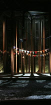 AS YOU LIKE IT   by Shakespeare   design: Naomi Dawson   lighting: James Farncombe   director: Maria Aberg   stage,set (detail),empty,trees,flags,earth,soil Royal Shakespeare Company (RSC) / Royal S...