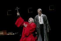 DON CARLO   by Verdi   design: Bob Crowley   lighting: Mark Henderson   original director: Nicholas Hytner   l-r: Eric Halfvarson (Grand Inquisitor), Ferruccio Furlanetto (Philip II)  The Royal Oper...