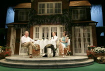 RELATIVELY SPEAKING   by Alan Ayckbourn   design: Peter McKintosh   director: Lindsay Posner ~l-r: Jonathan Coy (Philip), Max Bennett (Greg), Kara Tointon (Ginny)~Theatre Royal Bath production / Wyndh...