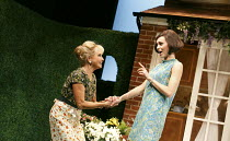 RELATIVELY SPEAKING   by Alan Ayckbourn   design: Peter McKintosh   director: Lindsay Posner ~l-r: Felicity Kendal (Sheila), Kara Tointon (Ginny) ~Theatre Royal Bath production / Wyndham's Theatre, Lo...