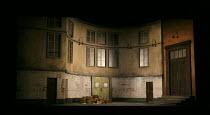 LOHENGRIN   by Wagner   conductor Lothar Koenigs   director & designer: Antony McDonald   lighting: Lucy Carter   stage,set,empty,interior,windows,luggage Welsh National Opera (WNO) / Wales Millenni...