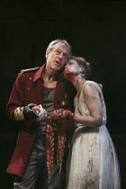 TITUS ANDRONICUS   by Shakespeare   design: Colin Richmond   lighting: Chris Davey   director: Michael Fentiman ~III/i: Stephen Boxer (Titus Andronicus), Rose Reynolds (Lavinia)~Royal Shakespeare Comp...
