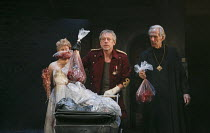 TITUS ANDRONICUS   by Shakespeare   design: Colin Richmond   lighting: Chris Davey   director: Michael Fentiman ~III/i - l-r: Rose Reynolds (Lavinia), Stephen Boxer (Titus Andronicus), Richard Durden...