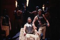 CORIOLANUS   by Shakespeare   design: Bunny Christie   lighting: Ben Ormerod   director: Tim Supple   l-r: Kenneth Branagh (Caius Martius / Coriolanus), Iain Glen (Tullus Aufidius)  Chichester Festi...