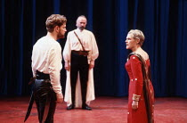 CORIOLANUS   by Shakespeare   design: Bunny Christie   lighting: Ben Ormerod   director: Tim Supple ~l-r: Kenneth Branagh (Caius Martius / Coriolanus), David Gant (Cominius), Judi Dench (Volumnia) ~Ch...