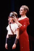 CORIOLANUS  by Shakespeare  design: Bunny Christie  lighting: Ben Ormerod  director: Tim Supple ~Judi Dench (Volumnia) with Young Martius~Chichester Festival Theatre (CFT), Chichester, West Sussex, En...