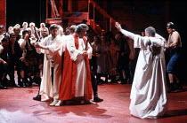 CORIOLANUS   by Shakespeare   design: Bunny Christie   lighting: Ben Ormerod   director: Tim Supple   front right: Richard Briers (Menenius Agrippa) Chichester Festival Theatre (CFT) / Chichester, W...
