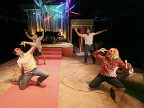 MISSION DRIFT   written & created by the TEAM   design: Nick Vaughan   lighting: Jake Heinrichs & Sean Linehan   director: Rachel Chavkin   front: Brian Hastert (Joris Rapalje), Libby King (Catalina...