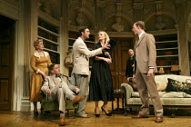 RELATIVE VALUES   by Noel Coward   design: Stephen Brimson Lewis   lighting: Tim Mitchell   director: Trevor Nunn ~l-r: Patricia Hodge (Felicity, Countess of Marshwood), Steven Pacey (The Honourable P...