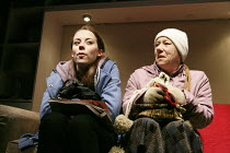 RESPONSIBLE OTHER   written & directed by Melanie Spencer   design: Emma Tompkins   lighting: Katherine Graham   l-r: Alice Sykes (Daisy), Tricia Kelly (Diane) Hampstead Theatre Downstairs (HT), Lon...