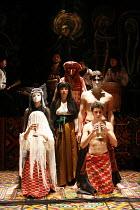 MACBETH - THE PROLOGUE   after Shakespeare   director: Vladislav Troitsky ~2nd row, left: Natalka Bida (Lady Macbeth)   right: Dmytro Yaroshenko (Macbeth)~Dakh Centre for Contemporary Arts - Ukraine...