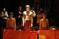 MACBETH - THE PROLOGUE   after Shakespeare   director: Vladislav Troitsky ~centre: Dmytro Yaroshenko (Macbeth)~Dakh Centre for Contemporary Arts - Ukraine   ~BITE:07 / The Pit / Barbican Centre, Londo...