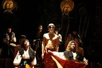 MACBETH - THE PROLOGUE   after Shakespeare   director: Vladislav Troitsky ~l-r: Vyshnya, Dmytro Yaroshenko (Macbeth), Solomiya Melnyk~Dakh Centre for Contemporary Arts - Ukraine   ~BITE:07 / The Pit /...