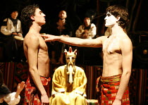 MACBETH - THE PROLOGUE   after Shakespeare   director: Vladislav Troitsky ~left: Volodymyr Minenko   right: Dmytro Yaroshenko (Macbeth)~Dakh Centre for Contemporary Arts - Ukraine   ~BITE:07 / The Pit...