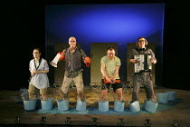 WE'RE GOING ON A BEAR HUNT   based on the book written by Michael Rosen & illustrated by Helen Oxenbury   design: Katie Sykes   lighting: Tony Simpson   director: Sally Cookson ~l-r: Duncan Foster (Da...