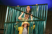 WE'RE GOING ON A BEAR HUNT   based on the book written by Michael Rosen & illustrated by Helen Oxenbury   design: Katie Sykes   lighting: Tony Simpson   director: Sally Cookson ~from top: Duncan Foste...