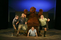 WE'RE GOING ON A BEAR HUNT   based on the book written by Michael Rosen & illustrated by Helen Oxenbury   design: Katie Sykes   lighting: Tony Simpson   director: Sally Cookson ~l-r: Ben Harrison (Dog...
