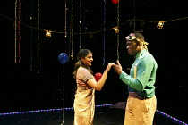 ROMEO AND JULIET   by Shakespeare   in a new version for young audiences by Ben Power   design: Becs Andrews   lighting: Paul Knott   director: Bijan Sheibani ~first meeting: Natalie Drew (Juliet), Te...