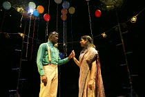 ROMEO AND JULIET   by Shakespeare   in a new version for young audiences by Ben Power   design: Becs Andrews   lighting: Paul Knott   director: Bijan Sheibani ~first meeting: Tendayi Jembere (Romeo),...