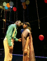 ROMEO AND JULIET   by Shakespeare   in a new version for young audiences by Ben Power   design: Becs Andrews   lighting: Paul Knott   director: Bijan Sheibani ~first meeting & kiss: Tendayi Jembere (R...