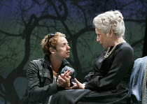 ALL'S WELL THAT ENDS WELL   by Shakespeare   design: Katrina Lindsay   lighting: Tim Lutkin   director: Nancy Meckler ~Alex Waldmann (Bertram), Charlotte Cornwell (Countess of Rossillion) ~Royal Shake...