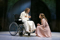ALL'S WELL THAT ENDS WELL   by Shakespeare   design: Katrina Lindsay   lighting: Tim Lutkin   director: Nancy Meckler ~Greg Hicks (King of France), Joanna Horton (Helena)~Royal Shakespeare Company (RS...