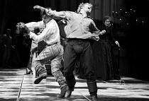 HAMLET by Shakespeare   design: Maria Bjornson   lighting: Chris Ellis   director: Ron Daniels   l-r: Roger Rees (Hamlet), Kenneth Branagh (Laertes), Virginia McKenna (Gertrude)  Royal Shakespeare C...