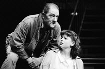 A VIEW FROM THE BRIDGE   by Arthur Miller   design: Alan Tagg   lighting: Mick Hughes   director: Alan Ayckbourn ~Michael Gambon (Eddie Carbone), Suzan Sylvester (Catherine) ~National Theatre producti...