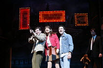BLOOD BROTHERS   book, music & lyrics by Willy Russell   design: Marty Flood   lighting: Jon Swain   director: Bob Tomson & Bill Kenwright ~~l-r: Mark Hutchinson (Eddie), Sophie Thierens (Linda), Anto...