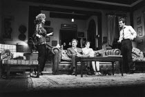 WHO'S AFRAID OF VIRGINIA WOOLF?   by Edward Albee   set design: Tanya McCallin   costumes: Lindy Hemming   lighting: Brian Ridley  director: Nancy Meckler ~l-r: Joan Plowright (Martha), Paul Eddington...
