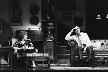 WHO'S AFRAID OF VIRGINIA WOOLF?   by Edward Albee   set design: Tanya McCallin   costumes: Lindy Hemming   lighting: Brian Ridley  director: Nancy Meckler   Margaret Tyzack (Martha), Paul Eddington (...
