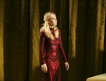 EDWARD II   by Marlowe  set design: Lizzie Clachan   costumes: Alex Lowde   lighting: James Farncombe   director: Joe Hill-Gibbons ~Vanessa Kirby (Queen Isabella)~Olivier Theatre / National Theatre (N...